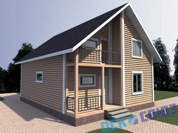 Проекты каркасных домов с балконом и террасой фото - проект .